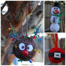 yarn santa rudolph snowman ornaments by kristin at write