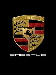 coloriage logo porschemarque allemande voitures luxe plume power