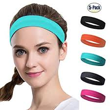 athletic headbands set of 5 women s sport athletic headband for