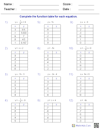function table worksheets abc pinterest printable maths