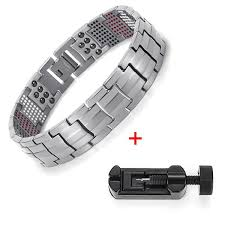 black magnetic bracelet images Titanium bio energy magnetic bracelet jpg