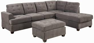 Microfiber Reversible Chaise Sectional Sofa Grey Sectional Couch Microfiber Grey Sectional Sofa