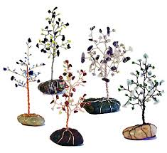 handcrafted gemstone trees made by seeds of wellness they can be