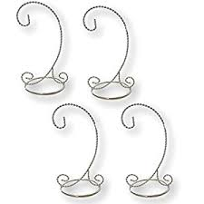 silver ornament stand set of 4 ornament