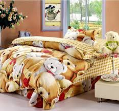 Kids Bedding Sets For Girls by Lovely Teddy Bears Hug Kids Bedding Sets Children Comforter Cover