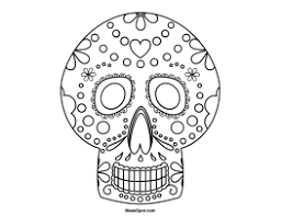 Day Of The Dead Masks Printable Day Of The Dead Mask