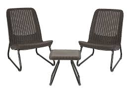 Chairs Patio Keter 3 Pc All Weather Outdoor Patio Garden