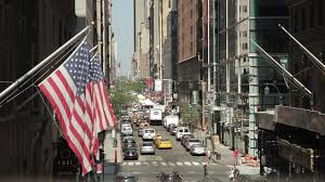 Flag Of New York City New York Stock Footage Summer In The City The Soho Stock Video