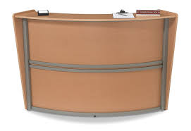 Round Reception Desk by Amazon Com Ofm Marque Series Single Unit Curved Reception Station