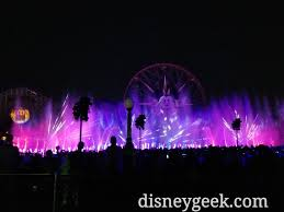 world of color season of light no projections on fun wheel mickey tonight during world of color