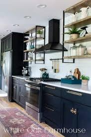 modern farmhouse kitchen black cabinets modern farmhouse black kitchen reveal white oak farmhouse