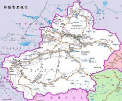 Chinese World Map by Xinjiang Map 1535x1273 Chinese U0026 English Roads Distanc U2026 Flickr