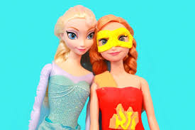 play doh elsa makes anna a hero costume disney frozen youtube