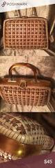 vintage 1950 lucite and wicker handbag bag and vintage