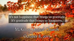 sermon thanksgiving service october 8 2017