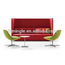 banquette bureau designer canapé banquette avec cloisons de tissu pour réunion