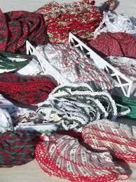 christmas pattern red green christmas sewing trim lot eyelet plaid ruffle edgings red