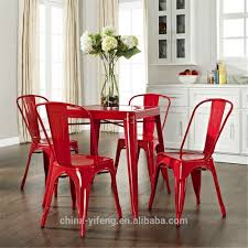 Retro Red Kitchen Chairs - dining room red leather dining chairs ladder back dining chairs