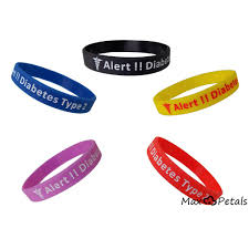 silicone bracelet wristband images 5 pack quot diabetes type 2 quot silicone bracelet wristbands max petals jpg