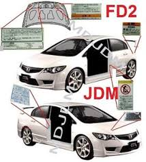 ebay honda civic parts oem jdm honda civic type r fd2 caution decal set si fd1 genuine