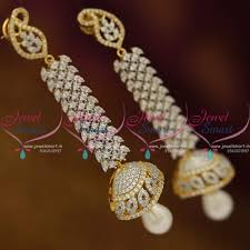 buy jhumka earrings online j8411 two tone gold silver design jhumka earrings buy