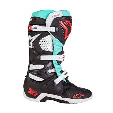 motocross bike boots alpinestars new 2016 mx tech 10 le eli tomac turquoise black