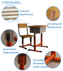 Used Student Desks For Sale Classroom Desk And Chair Made Of Metal And Wooden For