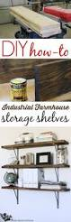 Making Wooden Shelves For Storage by How To Add Easy Industrial Shelving On The Cheap Industrial