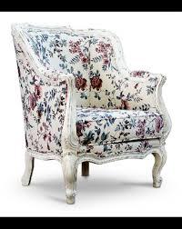 siena handmade white floral armchair leberta london