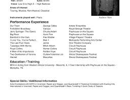 theatre resume resume sles by ammcswain other ideas to discover on theater