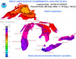 Map Of The United States Great Lakes by Great Lakes Water Temperatures At Record Levels Climate Central