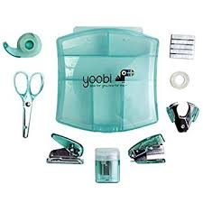 Office Desk Supply Desk Mini Supply Kit Aqua Office Products