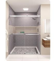 38 Shower Door Glasscrafters Ds 38 Clr Equalis Series Frameless By Pass Sliding