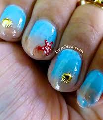 beach nail art tutorial u2013 2 different designs u2013 dendiva