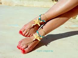 starfish barefoot sandals starfish barefoot sandals barefoot jewelry blue seashells