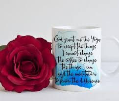 serenity prayer mug sober as coffee mug god then coffee