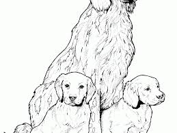 realistic dog coloring pages coloring page for kids