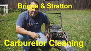 briggs u0026 stratton trimmer carburetor clean youtube