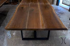 live edge hardwood slab conference tables and desk tops