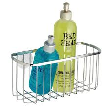 amazon com interdesign suction rectangle basket polished
