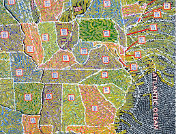 Zip Code Map Chicago by Color By Number The Gorgeous Obsessive U S Maps Of Paula Scher