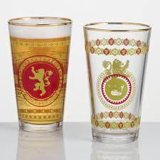 game of thrones lannister pub glasses set of 2 world market