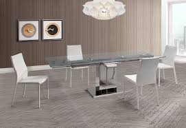 Modern Extendable Dining Table Slim Extendable Dining Table With 1 2