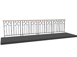 Outdoor Metal Handrails Outdoor Metal Railing 3d Model 3dsmax 3ds Files Free Download