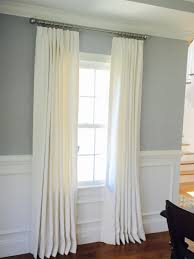 white cottage custom triple euro pleated drapery panels in classic
