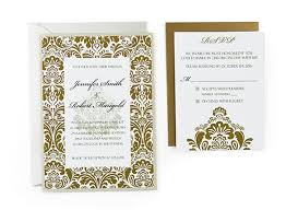 weding cards damask free wedding invitation template