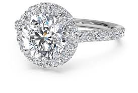 engagement ring with halo cut set halo band engagement ring in platinum