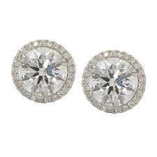 earring jackets halo earring jackets for diamond studs wixon jewelers
