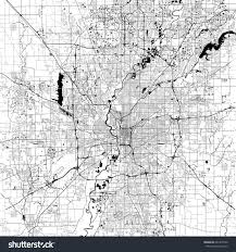 Map Indianapolis Indianapolis Monochrome Vector Map Very Large Stock Vector
