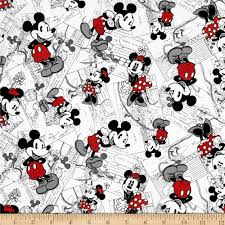 disney vintage mickey comic strip character toss black red from